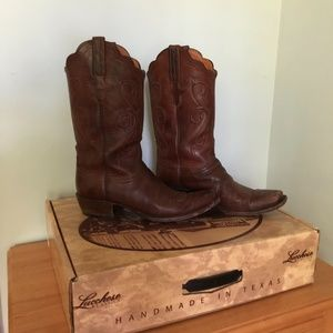 EUC Brown Lucchese Ranch Boots